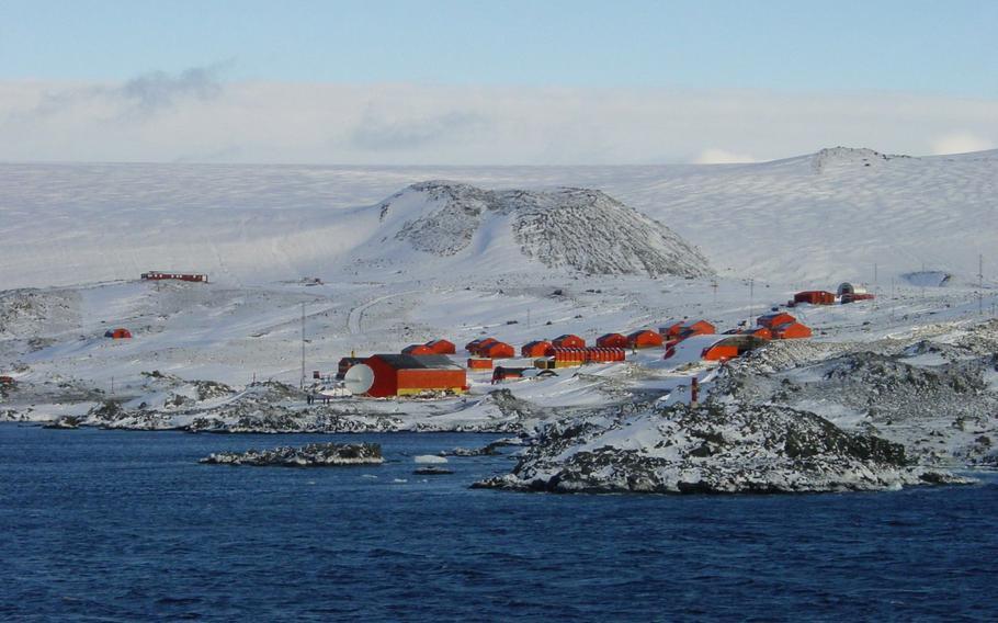 Esperanza Base during the 2001-2002 Antarctic summer.