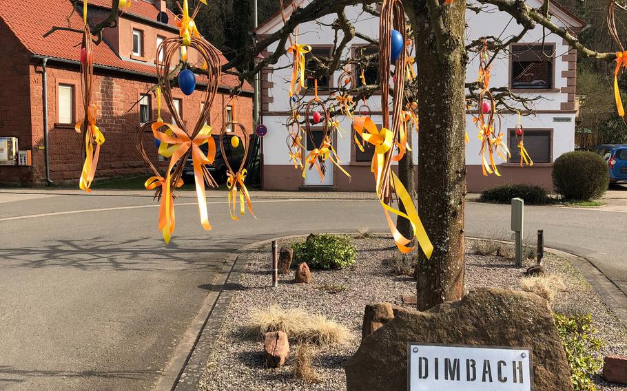 Dimbach is the nearest village to the Dimbacher Buntsandstein high path in Germany's Pfalz Forest. Hikers cross through the village of less than 200 residents when completing the 6-mile circular route.