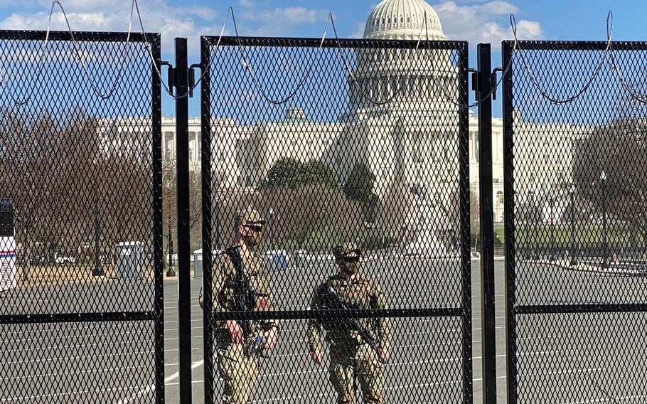 100p na                The acting House sergeant-at-arms said Monday in a memo to members of Congress that security fencing that has circled the U.S. Capitol since a mob attacked the building on Jan. 6 will be scaled back in two phases after the U.S. Capitol Police said there is no known, credible threat that warrants keeping the temporary barrier.
