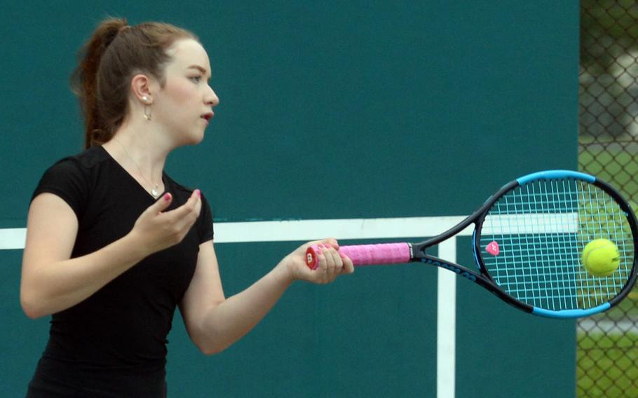 Two-time DODEA-Japan singles champion Jenna Mahoney returns for her senior season at Robert D. Edgren.