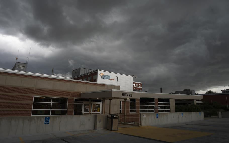 The main entrance of Katherine Shaw Bethea Hospital in Dixon, Ill., on August 24, 2021.