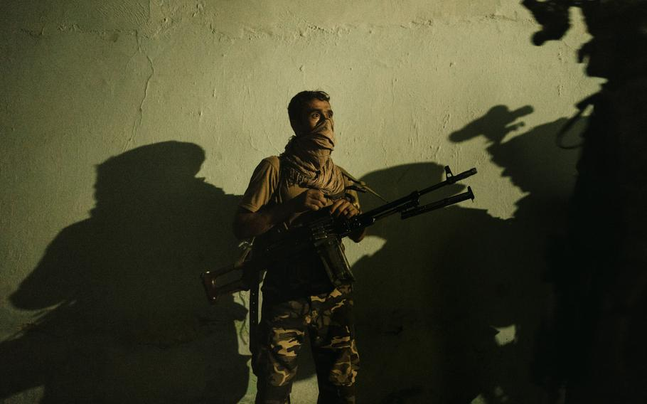 The special forces unit called off the operation after the friendly fire incident, blaming the other security branches for the lack of coordination. Photographed in Kunduz, Afghanistan, on July 15, 2021.