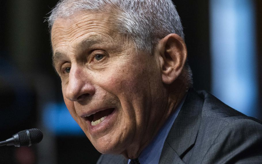 Anthony Fauci, director of the National Institute of Allergy and Infectious Diseases at the National Institutes of Health, said Sunday, Sept. 19, 2021, that booster shots of the COVID-19 vaccinations remain a possibility soon.