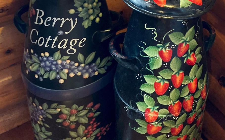 The cafe and shop at Berry Cottage in Ome, Japan, has a homey, country store feel.