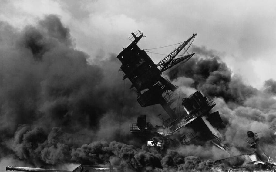 The attack on Pearl Harbor, Dec. 7, 1941.