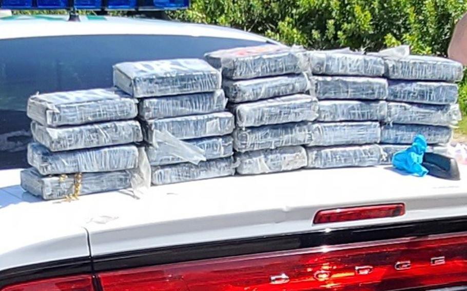 The 45th Security Forces Squadron seized nearly 30 kilograms of cocaine that was found on a beach at Cape Canaveral Space Force Station, Florida, May 19, 2021. The Brevard County Sheriff's office estimated the street value of the drugs to be around $1.2 million.