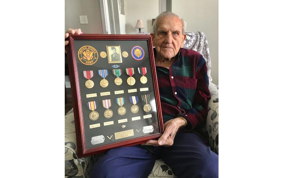 Frank Grasberger was stationed in Germany during World War II. He fought in the Battle of the Bulge.
