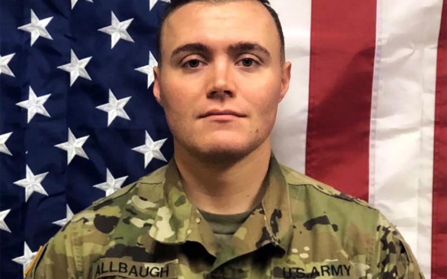 First Lt. Joseph T. Allbaugh, 24, died in a noncombat incident in southern Kandahar province on July, 12, 2020  U.S. Army