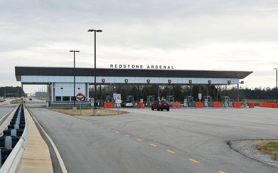 Redstone Arsenal gate.