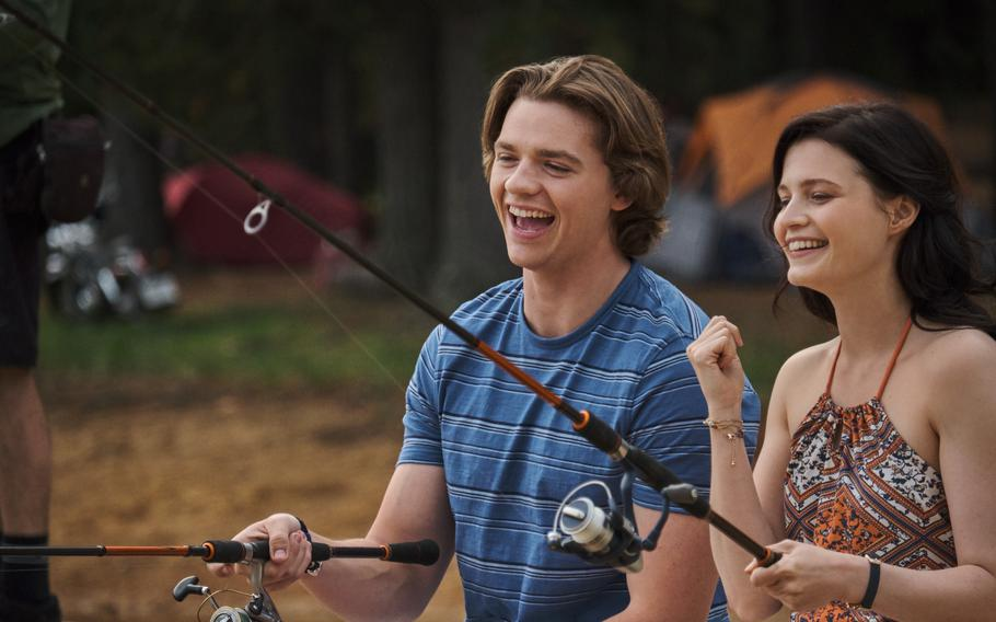 """Joel Courtney as Lee and Meganne Young as Rachel in """"The Kissing Booth 3."""""""
