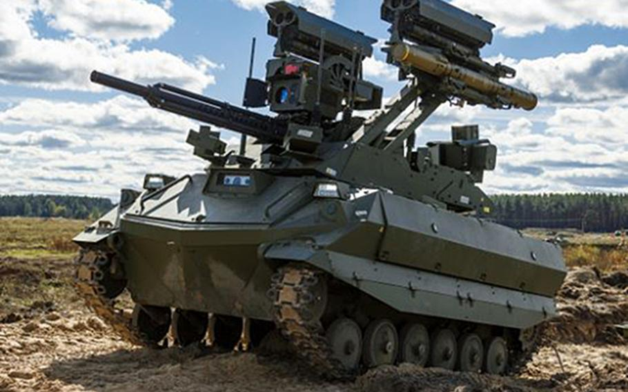 Russia tested two unmanned combat robots this week during the the joint strategic Zapad-2021 exercise with Belarus.