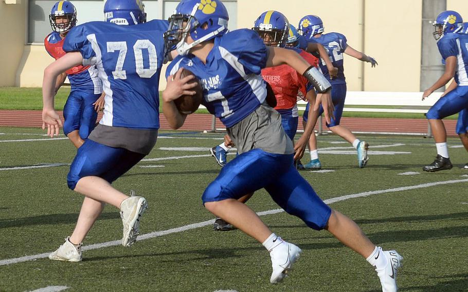 New Yokota starting quarterback Dylan Tomas opens the 2021 season against his old team, Robert D. Edgren.