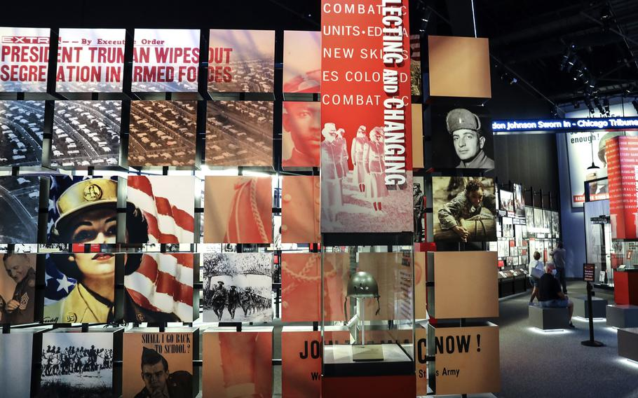 An exhibit at the National Museum of the United States Army highlights changes in the service over the years.