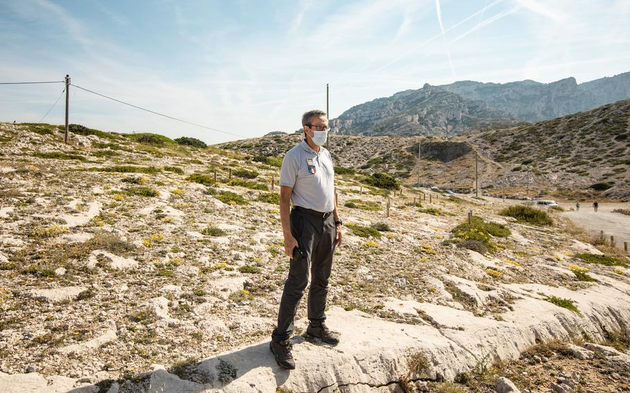 Alain Vincent, a national park officer, in the National Park of Calanques, France.