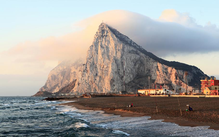 The rock of Gibraltar at sunrise as seen from the coast of Southern Spain. Rota is planning a tour of Gibraltar in early September.