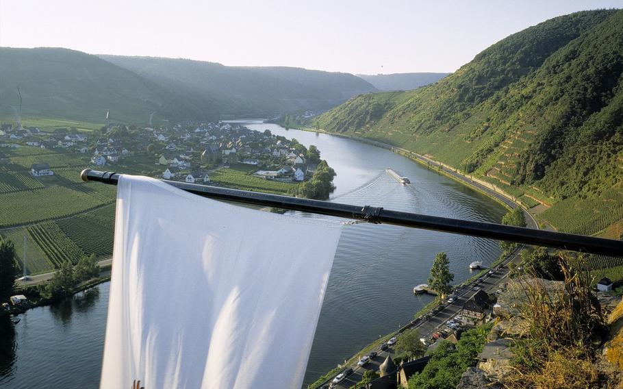 Germany's Mosel River Valley, as seen from Beilstein. Baumholder Outdoor Recreation plans canoeing and river boat tours of the Mosel River Valley in August.