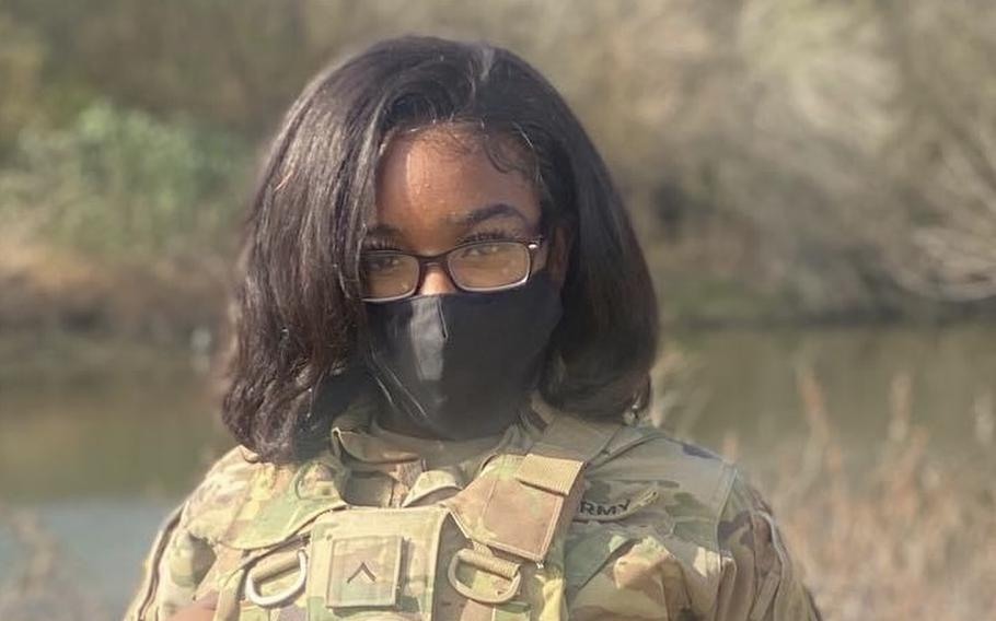 Spc. Nashyra Whitaker, 23, of the Louisiana National Guard died Sunday in a drunken driving accident in McAllen, Texas, where she was deployed to support the federal mission at the southwest border with Mexico. She joined the Guard in February 2019 as an automated logistical specialist.