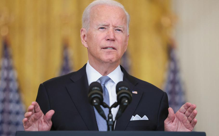 President Joe Biden delivers remarks on Afghanistan in the East Room of The White House in Washington, DC on August 16, 2021. The Afghanistan issue is front and center in the latest impeachment filing against the president.