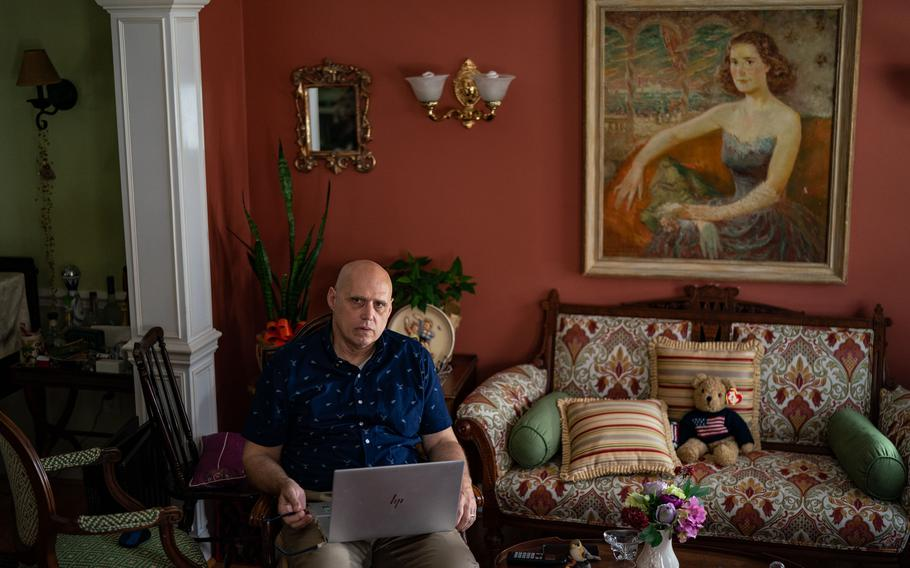 Franz Gayl, photographed at his home in Virginia, is planning to retire after spending decades working for the U.S. government.