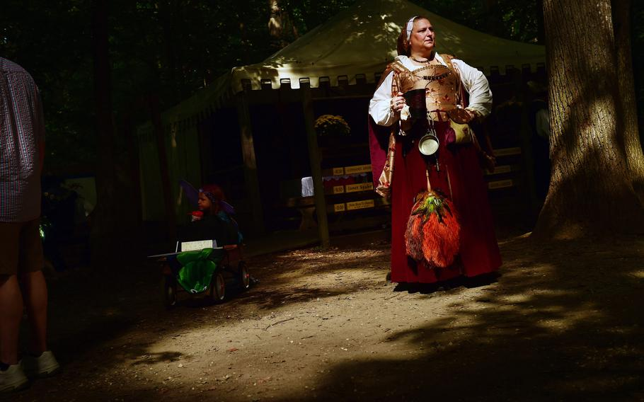 Tony Korol-Evans portrayed Mistress Anne Fermor during the opening weekend of the Maryland Renaissance Festival in 2015.