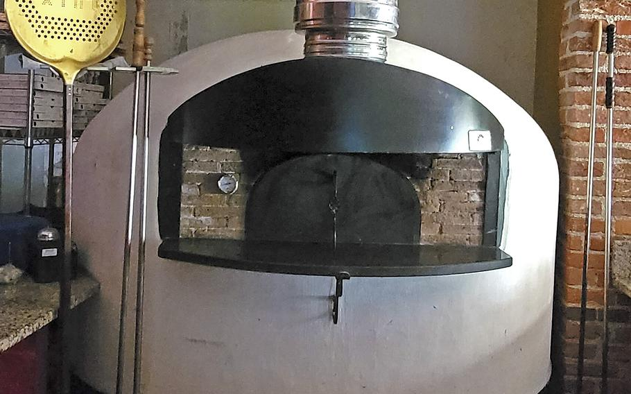 The pizza oven at Osteria El Gaucho, in Mansue, Italy, which is about a 30-minute drive from Aviano Air Base.