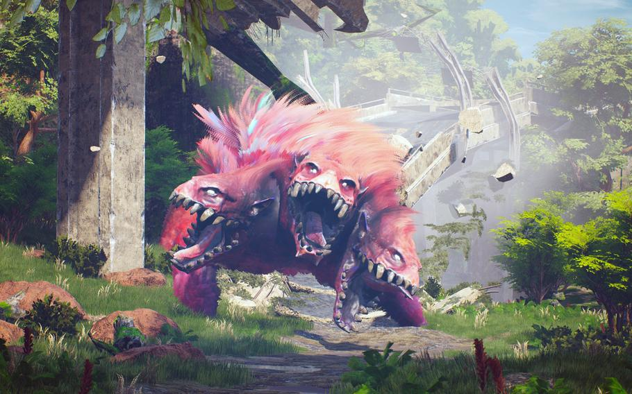 Biomutantis a third-person, open-world gamein which the player controls a mammalian warrior in a world filled with mutated animals.