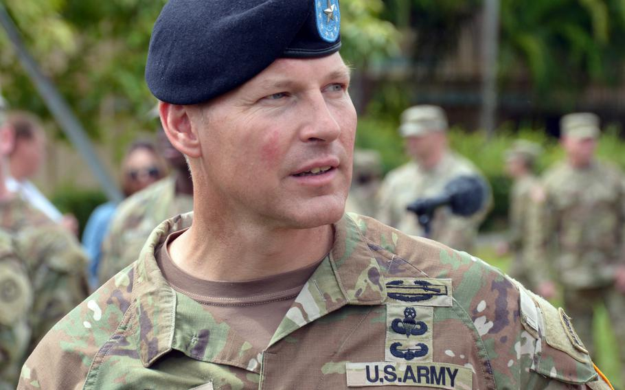 Brig. Gen. Joseph Ryan took command of the 25th Infantry Division during a ceremony at Schofield Barracks, Hawaii, Friday, July 23, 2021.