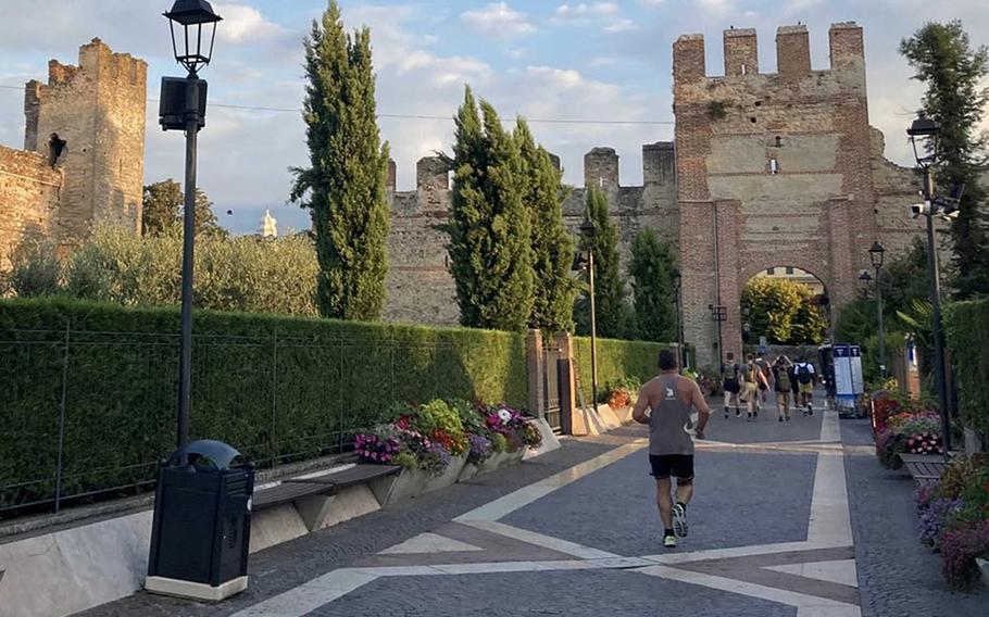 The route for the annual Col. Darby 40-Miler hike Sept. 2, 2021, takes participants along the shores of Lake Garda and through the area's charming towns, including Malcesine and its castle, Castello Scaligero.