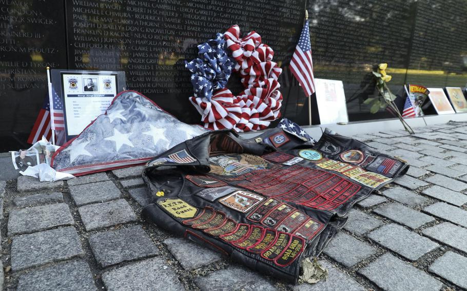 Memorial Day tributes at the Vietnam Veterans Memorial in Washington, D.C., May 31, 2021.