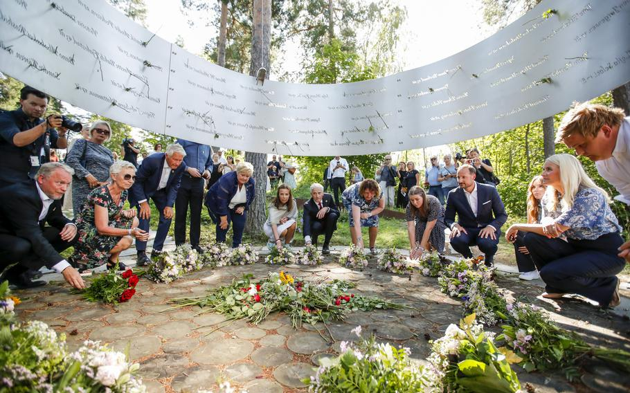 Commemorations to mark 10-years since Norway's worst ever peacetime slaughter when right wing extremist Anders Breivik set off a bomb in the capital, Oslo, killing eight people, before heading to tiny Utoya island where he stalked and shot dead 69 mostly teen members of the Labor Party's youth wing.