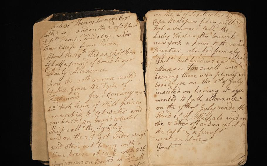 An image of the diary of John Claypoole, third husband of Betsy Ross.