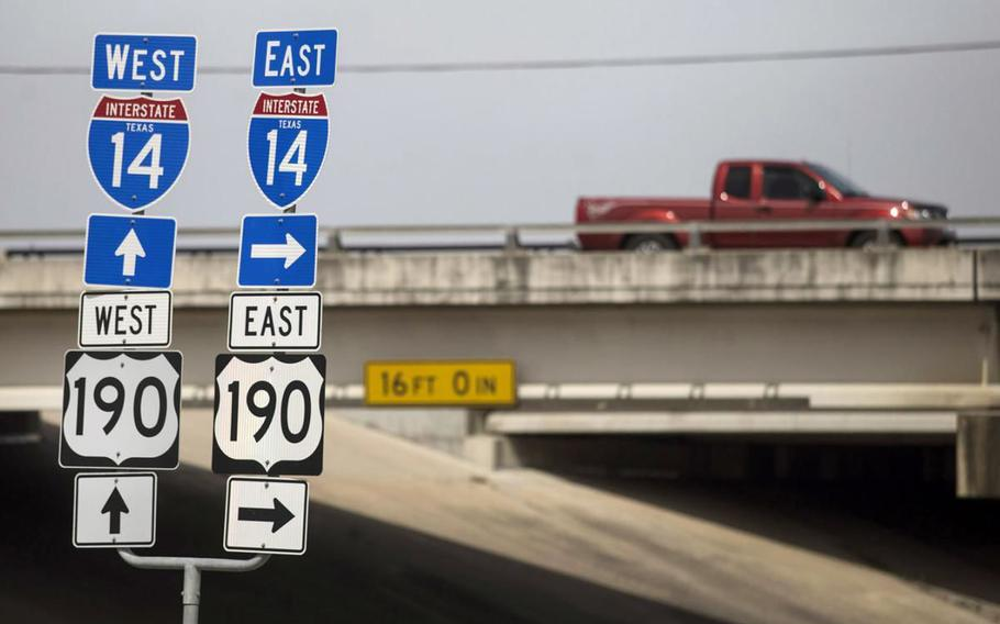 The $1 trillion infrastructure bill passed through the Senate this week includes an amendment to expand the 25-mile Interstate 14 that passes along Fort Hood, Texas, into a 1,300-mile highway that connects 12 military bases in five southern states. Advocates said the new highway would allow the military to travel more easily between bases and to strategic Gulf Coast ports.