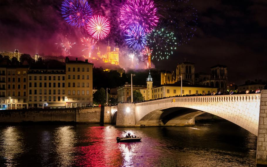 Bastille Day is celebrated all over France, including Lyon, pictured.