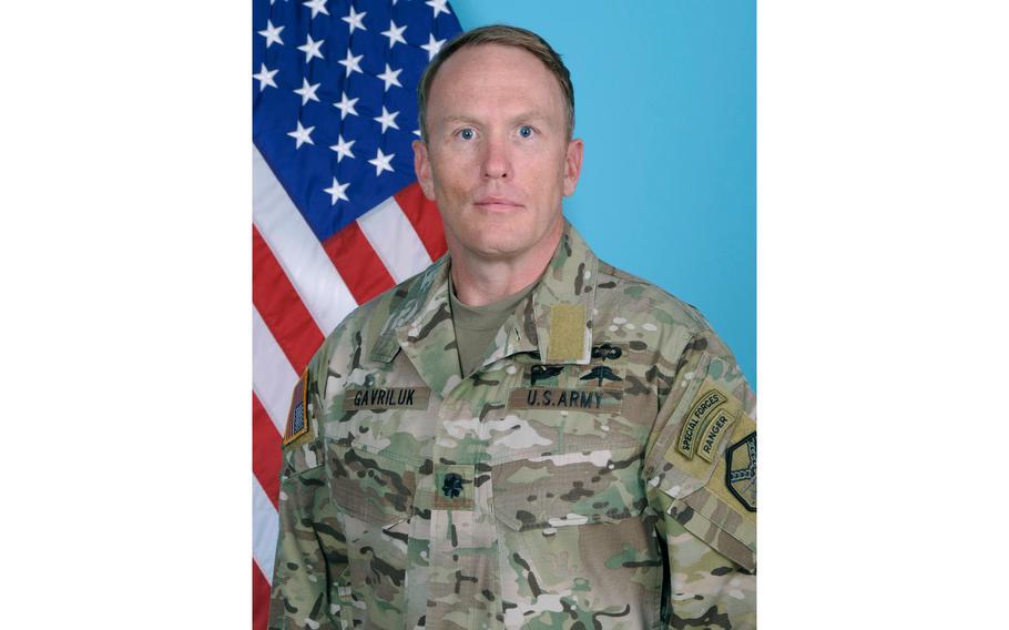 U.S. Army Lt. Col. Roger Gavriluk