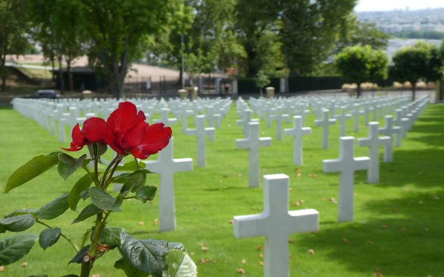 A World War I Memorial Day ceremony will be pre-recorded at American Cemetery in Suresnes, France, and available to watch online on the holiday.