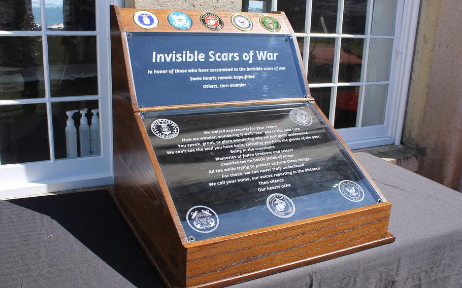 The new Invisible Scars of War memorial honors Armed Forces members who died by suicide either during or after their time of service.