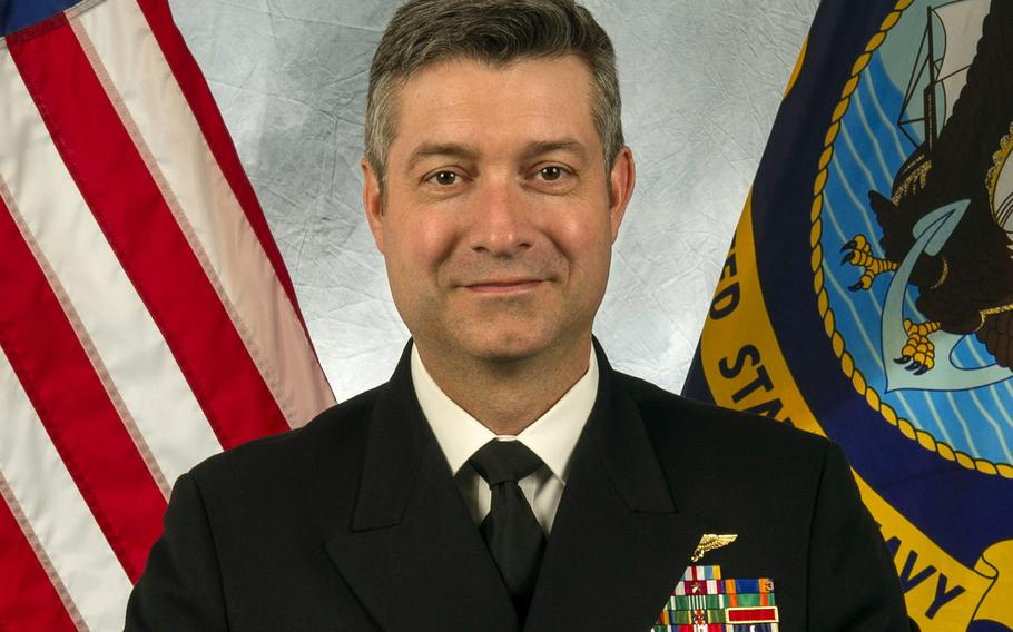 Capt. Kevin Pickard Jr., commander of Naval Air Station Sigonella, Italy.  In response to four traffic-related deaths over the past 14 months, Sigonella is putting renewed focus on making sure driving regulations are enforced, Pickard and Navy officials said.