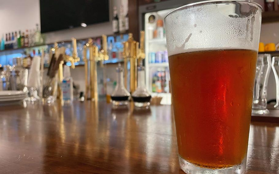 Kemby's Diner near Marine Corps Air Station Iwakuni, Japan, has six kinds of beer on tap: three Indian pale ales and stouts, porters and an ale, all at about $7.25 for a small glass or about $9 for a pint.