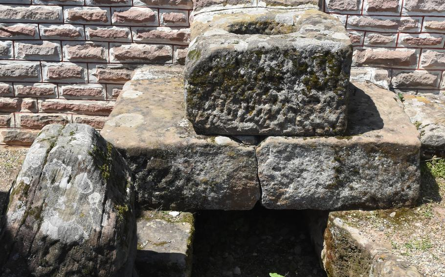 A stone latrine can be found behind a building that was believed to be a tavern inside a former Roman settlement at theRoman Museum Homburg-Schwarzenacker, less than an hour from Kaiserslautern, Germany.