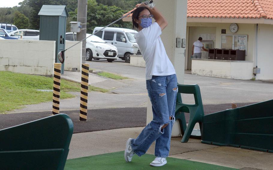 Sophomore Julizka Aguirre is one of two starters returning to Kubasaki's golf llineup.