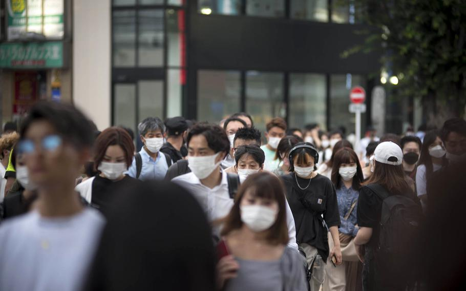 Japan's capital city reported another 2,884 people had tested positive for the coronavirus, Monday, Aug. 9, 2021.