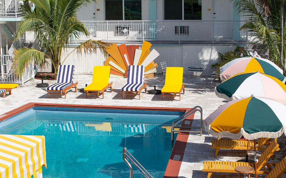 The pool at the Selina Miami Gold Dust.