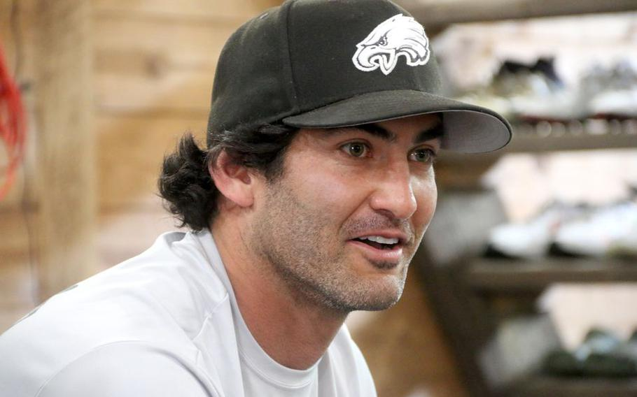 Former Marine Gabe Rangel has played an instrumental role in training Eagles players such as right tackle Lane Johnson and quarterback Jalen Hurts.
