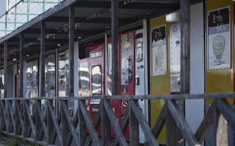 Some people are drawn to the Used Tire Market in Sagamihara, Japan, for a set of retreads or discounted rims. Others come for the hot noodles, toasted sandwiches, glass-bottle Cokes and odd knicknacks offered by scores of vintage vending machines surrounding the shop.