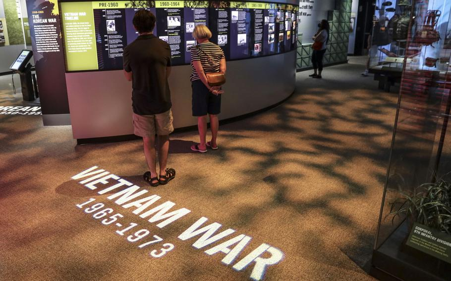 The Vietnam War display at the National Museum of the United States Army on its reopening day, June 14, 2021.