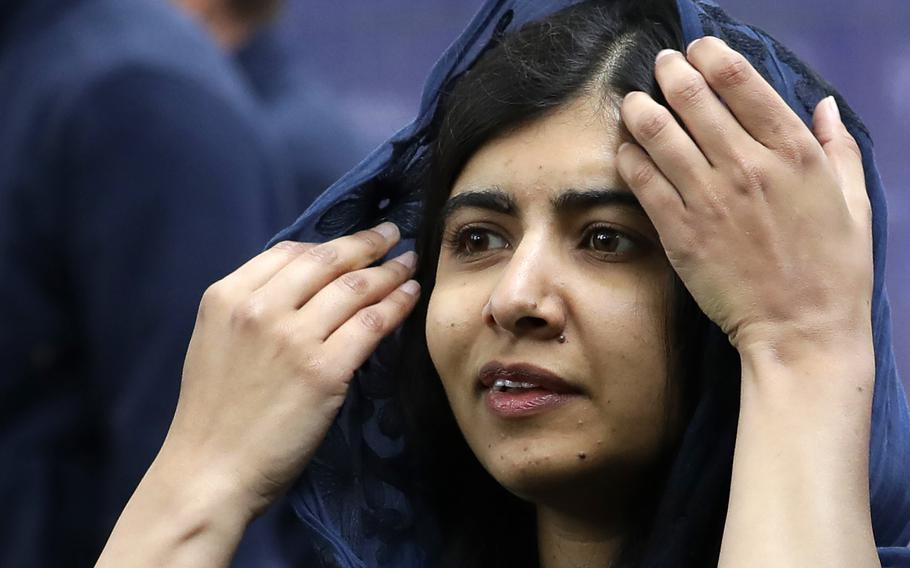 Malala Yousafzai attends an event in London on May 29, 2019. Pakistani officials said Thursday, June 10, 2021, that police have arrested a cleric after a video of him went viral on social media, in which he threatens Nobel Laureate Malala Yousafzai over her recent comments about marriage.