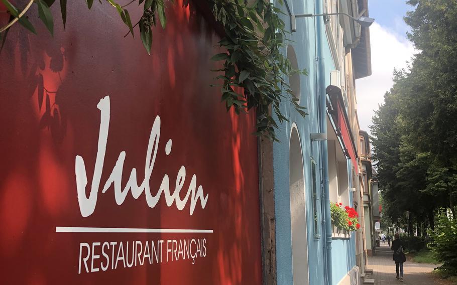 Julien restaurant on Altenwoogstrasse in Kaiserslautern.