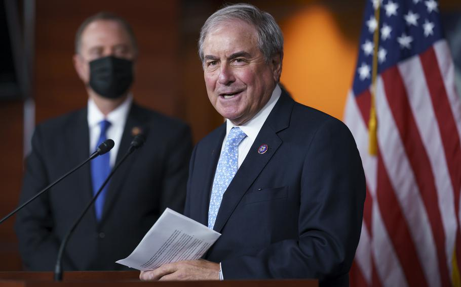 Democrats pushed a $3.5 trillion, 10-year bill strengthening social safety net and climate programs through the House Budget Committee on Saturday, but one Democrat opposed the measure in an illustration of the challenges party leaders face in getting the near unanimity they'll need to push the sprawling package through Congress.