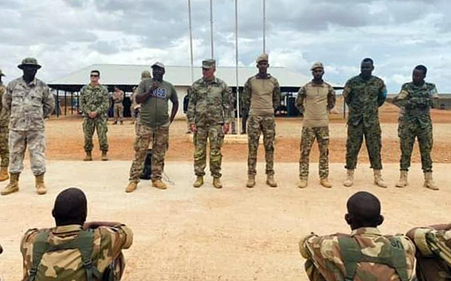 U.S. Africa Command's Gen. Stephen Townsend last week visited a Somali military base 60 miles outside of Mogadishu in Baledogle, a site where U.S. forces came under attack in 2019. Townsend met with an elite Somali infantry unit.