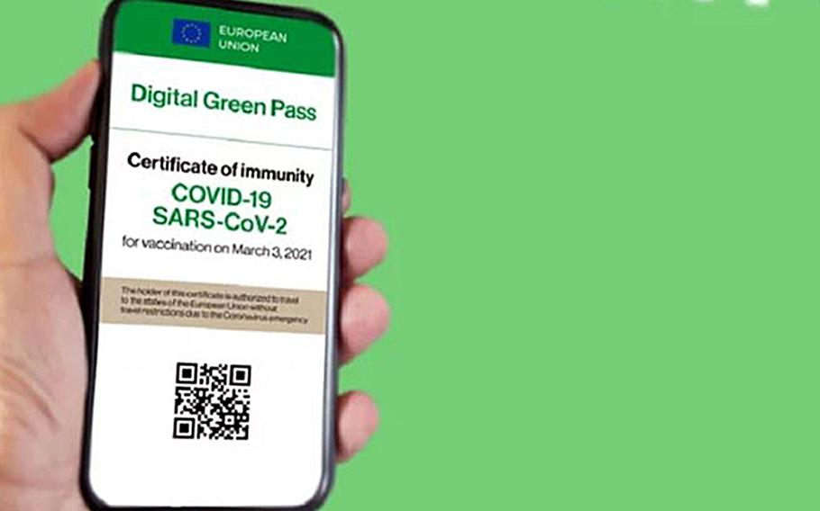People assigned to U.S. military installations in Italy qualify for the Italian digital green pass, easing travel as well as entry to indoor restaurants, museums and other venues, according to officials at Naval Support Activity Naples and U.S. Army Garrison Italy.